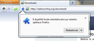 Instalace Selenium IDE